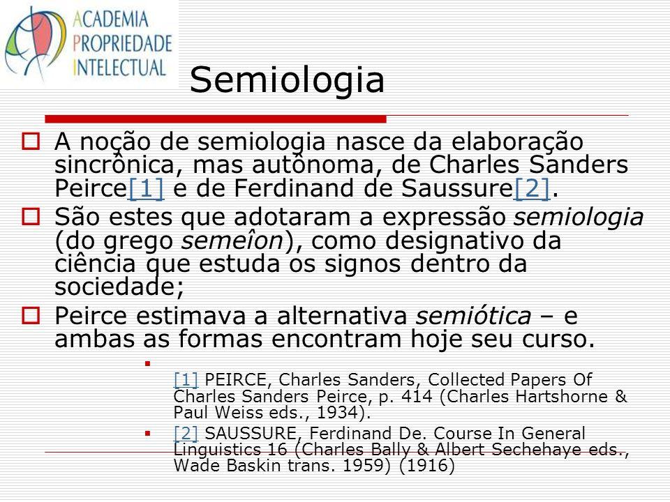 Semiologia A noção de semiologia nasce da elaboração sincrônica, mas autônoma, de Charles Sanders Peirce[1] e de Ferdinand de Saussure[2].